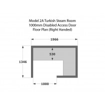 Model T2A Commercial Turkish Steam Room