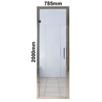 785 x 2000mm Steam Room Door Chrome