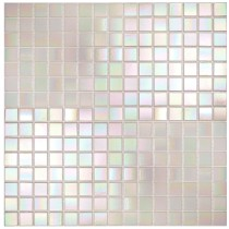 Pearl White iridescent - Straight Edge