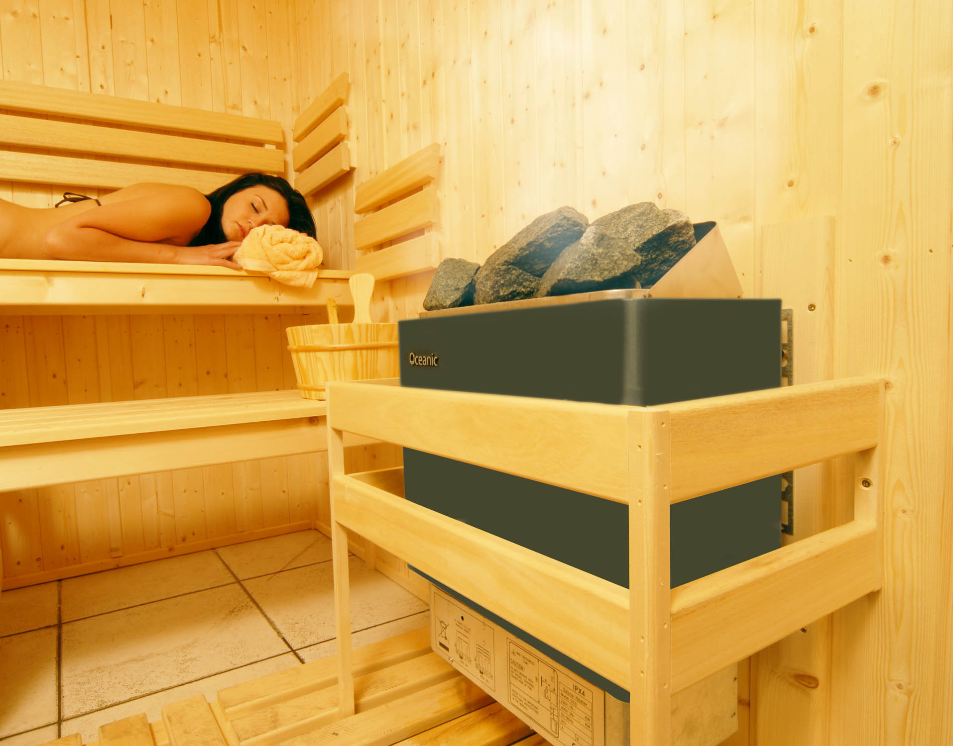 Oceanic Finnish Sauna Home OCSB Heater
