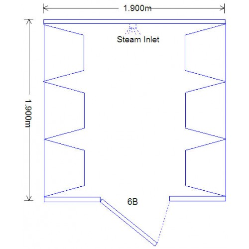 6 Person Commercial Acrylic Steam Room DG6BC