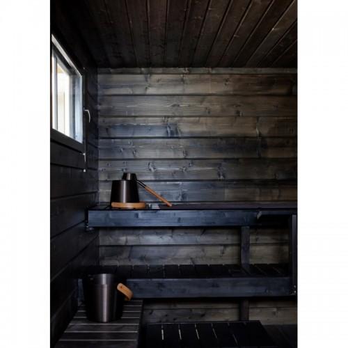 Sauna Paint Wax - Smoke Sauna Black 0.9L