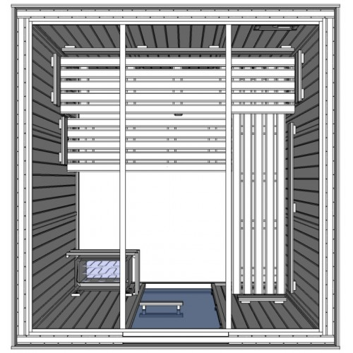 C3030 Light Duty Commercial Finnish Sauna Cabin