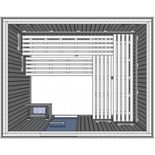 C3040 Light Duty Commercial Finnish Sauna Cabin