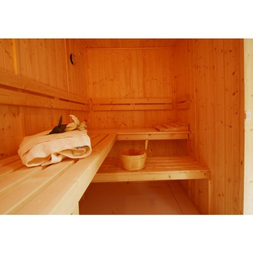 5 Person Traditional Corner Door Sauna - D2040
