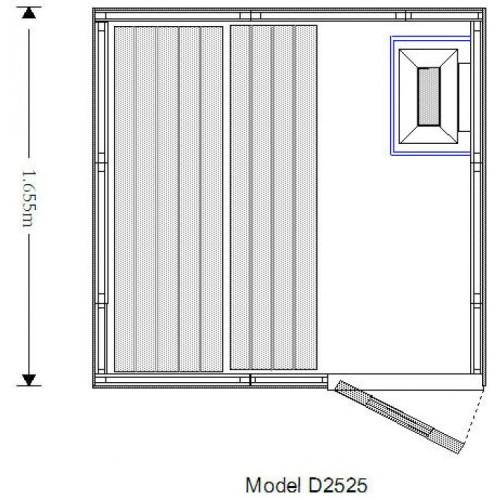 3 Person Traditional Sauna - D2525