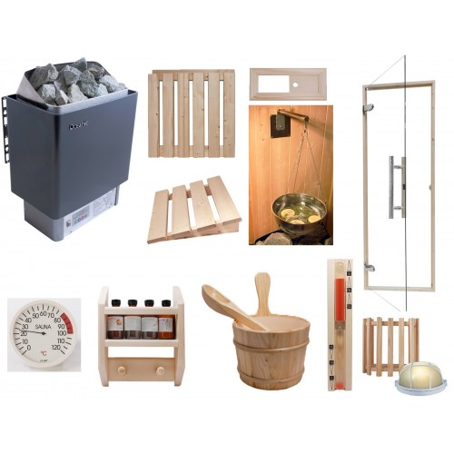 Celebration Home Sauna Kit with Built in Control Heater