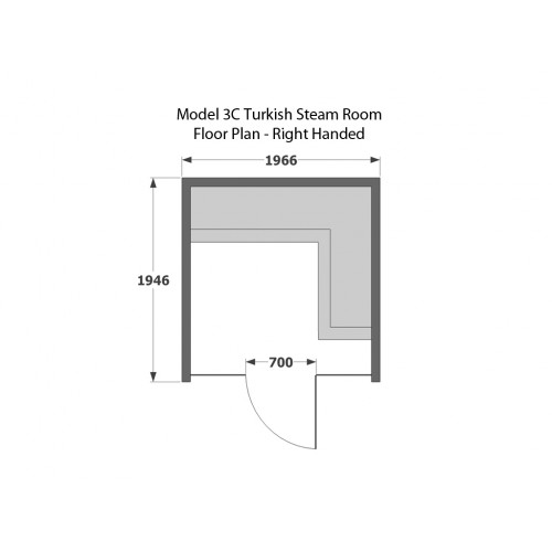 4 Person Home Turkish Steam Room Model 3C