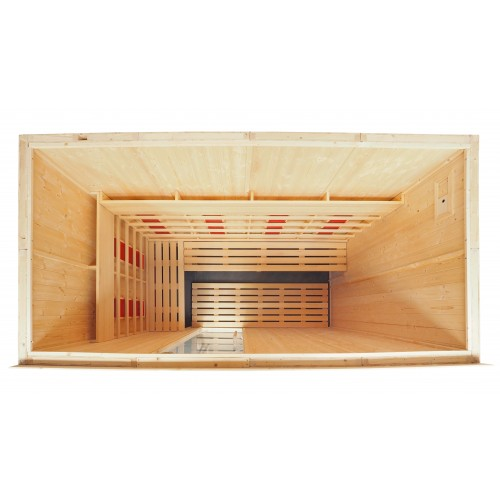 5 Person Commercial Infrared Sauna L Benches IR2040