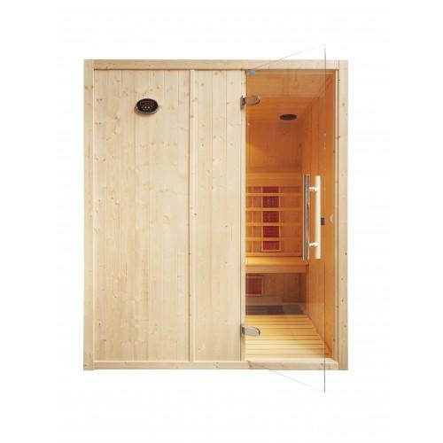 4 Person Home Infrared Sauna L Bench IR2525