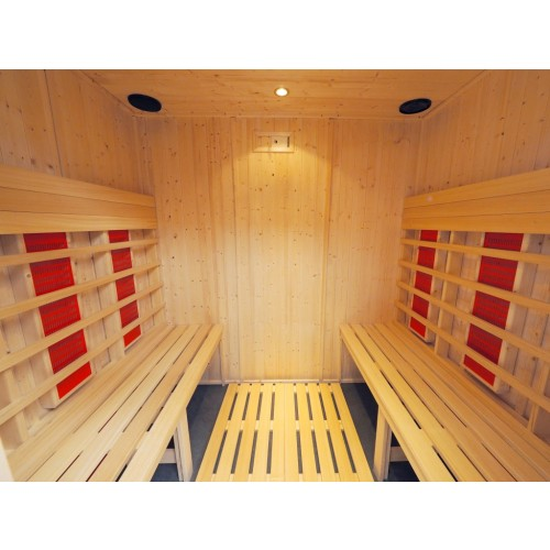 6 Person Infrared Saunarium Parallel Benches  IR2530