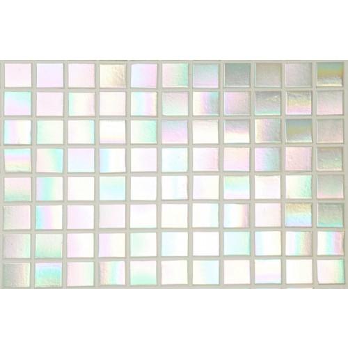 Pearl White iridescent - Straight Edge 325 x 325mm