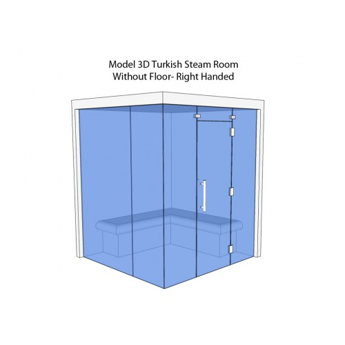 4 Person Home Turkish Steam Room Model 3D