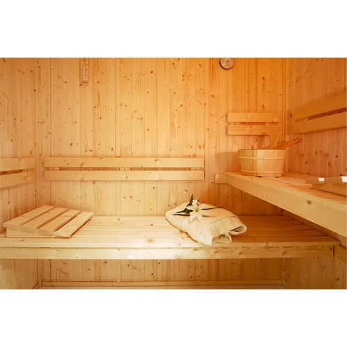 Celebration Spruce Sauna Bench, Backrest & Floor Mat Kit