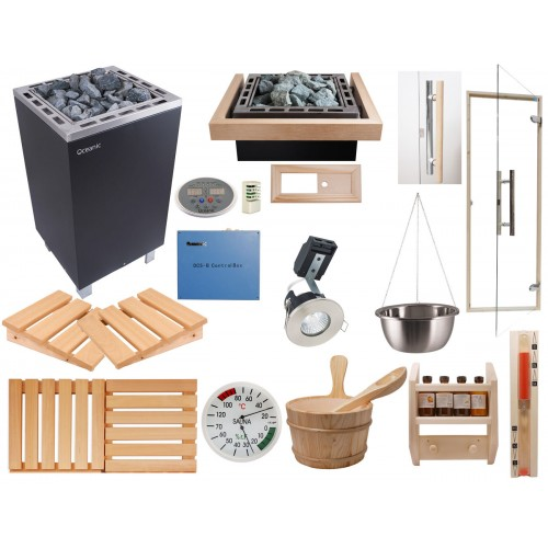 Deluxe Home Sauna Kit with Apollo Sauna Heater & Control system