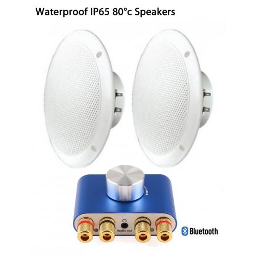 80°C waterproof IP65 speakers with Bluetooth