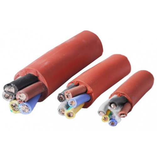 5 meters x 6mm 3 Core Silicone Bound Heat Proof Cable (6kw BIC Vision)