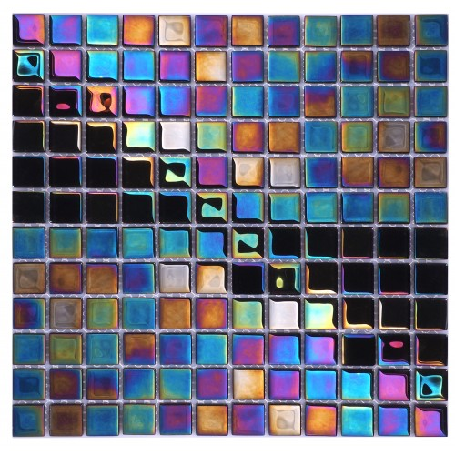 Petrol Black iridescent - Soft Edge 320 x320mm