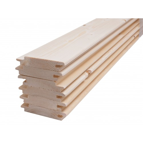 Spruce Sauna Wood Cladding - 95 x 18mm (Pack of 6 Lengths 2093mm)