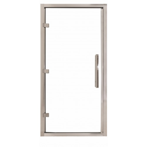 1000 x 1850mm Steam Room Door Chrome