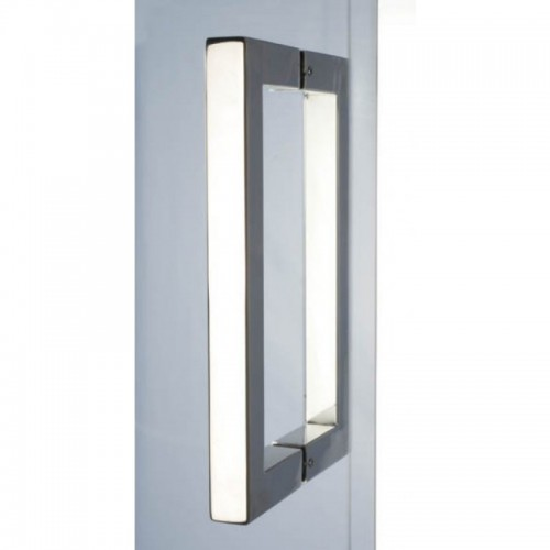 1000 x 1850mm Steam Room Door Chrome