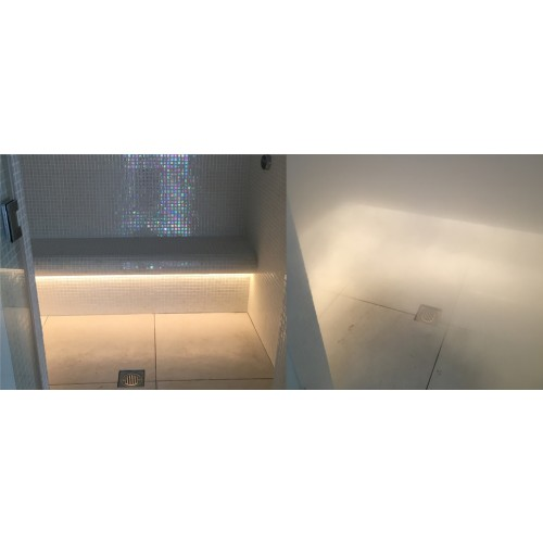 Steam Room Under Bench Lighting
