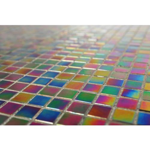 Petrol Black iridescent - Straight Edge 325 x 325mm