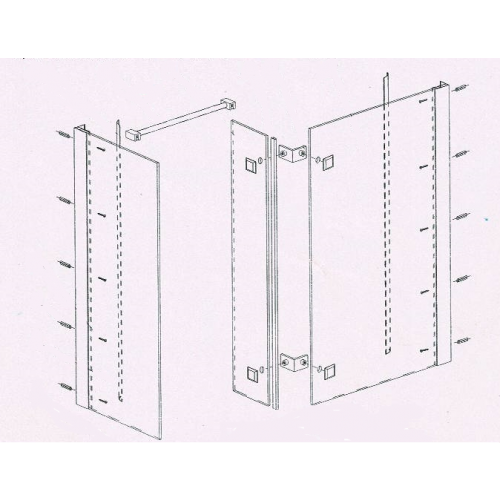 Clearance Item - Walk In Enclosure Square 1400x900x1900mm  NO Tray