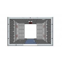 IR2030 Infrared Sauna Cabin Parallel Benches