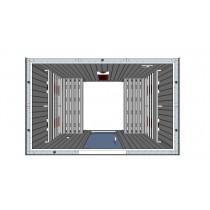4 Person Infrared Saunarium Parallel Benches IR2030