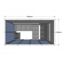 V2040 Vision Finnish Sauna Cabin floor plan