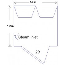 2b Steam Room with 785mm Door Technical Drawing