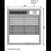 5 Person Heavy Duty Sauna - HD3030BB Floor plan