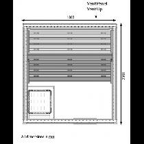 5 Person Heavy Duty Commercial Sauna Floor Plan