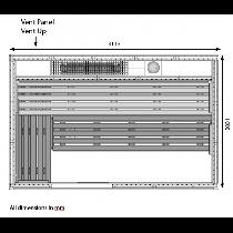 9 Person Heavy Duty Sauna - HD3050BB Floor Plan