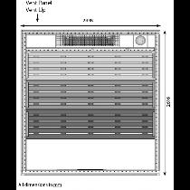 14 Person Heavy Duty Sauna - HD4040BB Floor Plan