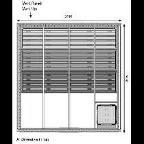 12 Person Heavy Duty Commercial Sauna Floor Plan