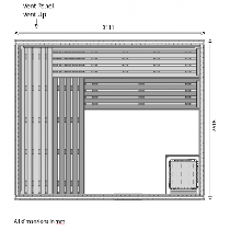 14 Person Heavy Duty Commercial Sauna Floor Plan