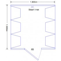 6 Person Home Roman Steam Room DG6B Technical Drawing