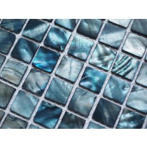 Marine Blue Shell Mosaic 305 x 305mm