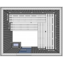 Oceanic Light Duty Commercial Sauna Cabin Floor Plan