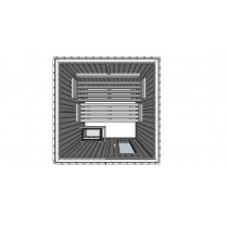 Outdoor Sauna Model E2020 technical drawing