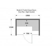 2 Person Commercial Turkish Steam Room Model 2C