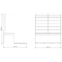 Infrared Sauna Bench Kit 2