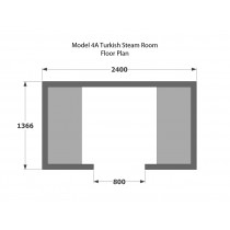 4 Person Home Turkish Steam Room Model 4A