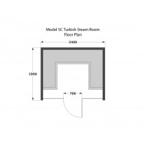 6 Person Home Turkish Steam Room Model 5C
