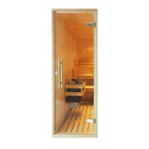 Oceanic Clear Glass Sauna Door on a Sauna Cabin