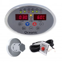 Oceanic Steam Generator Digital Control Panel, Chrome steam inlet nozzle and Steam on demand button