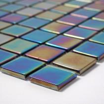 Petrol Black iridescent - Soft Edge 320 x320mm