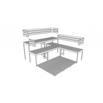 D3030 Sauna Bench, Backrest & Floor Mat Kit